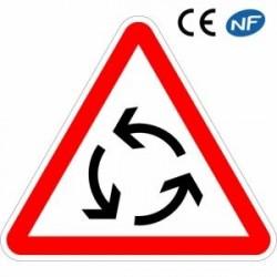 Panneau designalisation indiquant un carrefour à sens giratoire (AB25)