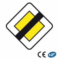 Panneau decirculation indiquant une fin de route prioritaire (Ab7)