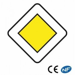Panneau routier indiquant une route prioritaire (Ab7)