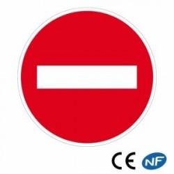 Panneau routier indiquant une voie en sens interdit (B1)
