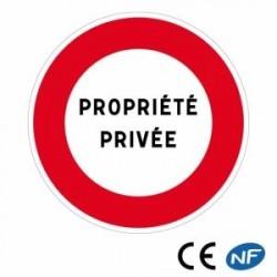 Panneau decirculation avec texte libre (B19)