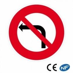 Panneau decirculation interdiction de tourner à gauche (B2a)