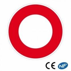Panneau designalisation circulation interdite à tous les véhicules (B0)