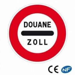 Panneau routier d'arrêt obligatoire à un poste de douane (B4)
