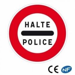 Panneau de signalisation indiquant un arrêt obligatoire au poste de police (B5b)