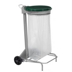 Support sac poubelle idéal tri sélectif couvercle vert