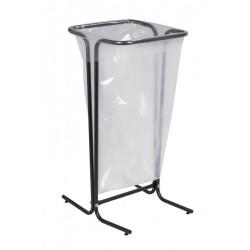 Support pour sac poubelle tubulaire gris