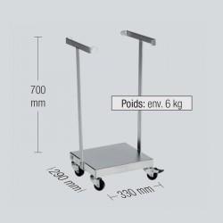 Support sac poubelle 60 L avec 4 roues pivotantes