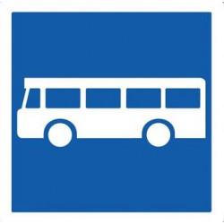 Panneau d'indication annonçant un arrêt autobus