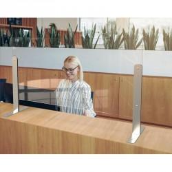 Une protection en verre trempé pour séparation de bureaux