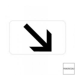 Petit panneau complémentaire pour panneaux de police disque