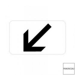 Petit panneau de signalisation de position à gauche pour disque M3a2