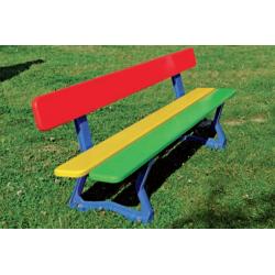 Banc extérieur multicolore pour écoles maternelles