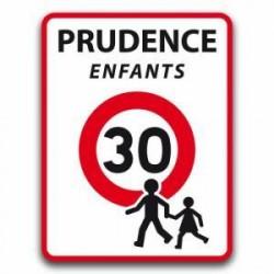 Panneau de signalisation prudence attention enfants - 30 km/h