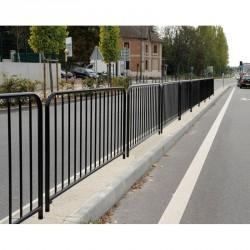 Barrière de ville à barreaux finition galva (sans peinture)