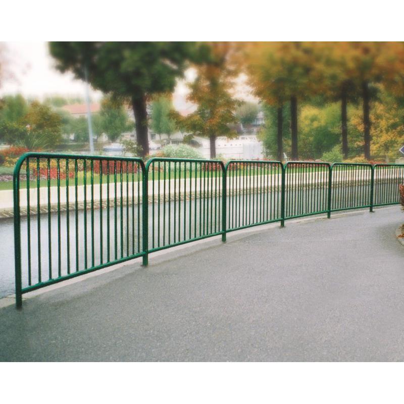 Barrière de ville à barreaux, barrière de ville en acier galva