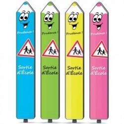 Panneau totem sécurité routière enfants