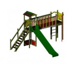 Un module de jeux pour les enfants de 3 à 8 ans. écoles et parcs publics