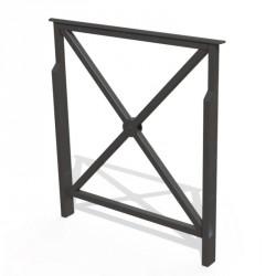 Barrière de sécurité en acier - Petit modèle 840 mm