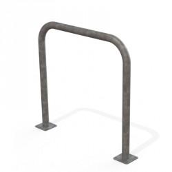 Arceau simple de sécurité en acier galvanisé sur platines 1000 mm