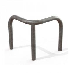 Arceau d'angle en acier galvanisé à sceller hors tout : 600 ou 800 mm