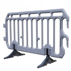 Barrière de sécurité en polyéthylène grise