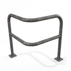 Arceau d'angle sur platine en acier galvanisé 800 x 800 x 1000 mm