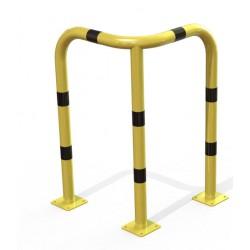 Arceau d'angle de protection en acier jaune et noir