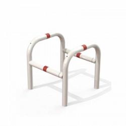 Étrier de sécurité modulable en acier 600 x 600 mm rouge et blanc