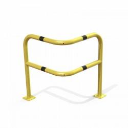 Arceau d'angle de sécurité renforcé. Pour l'industrie, en acier jaune et noir