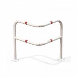 Arceau sécurité d'angle renforcé 2 pieds rouge et blanc 800x800 mm