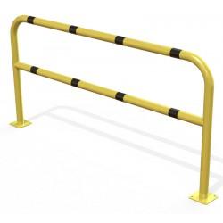 Arceau de sécurité renforce en acier jaune et noir sur platines