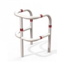 Étrier de protection d'infrastructures avec barres de renforts en acier sur 3 pieds