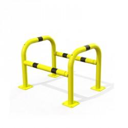 Étrier de sécurité pour l'industrie. 800 x 600 mm en acier, jaune et noir