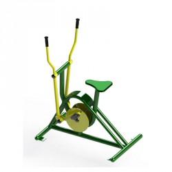 Vélo elliptique en acier pour parcours sportif des collectivités