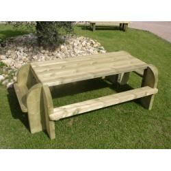 Table pique-nique bois rectangulaire
