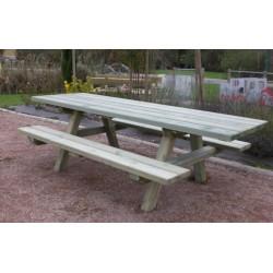 Table pique-nique en bois pour pmr
