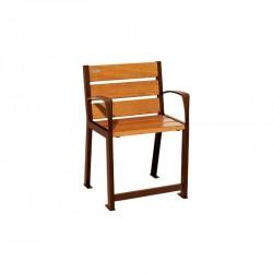 Fauteuil acier et bois - Spécial Sénior