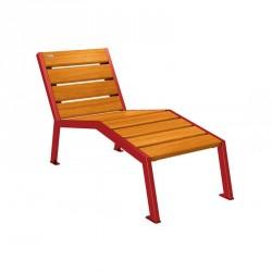 Chaise longue en bois et acier - Avec ou sans accoudoirs