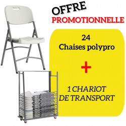 Lot de Chaises Gênes + Chariot de transport