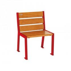 Chaise extérieure acier et bois Silaos