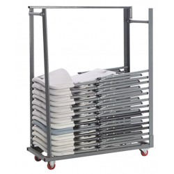 Chariot de transport sur roulette pour chaises pliantes polypropylène Polychaise