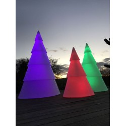 Sapin de Noël Lumineux en polyéthylène - 250 cm