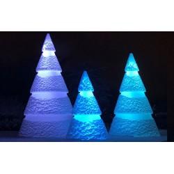 Ensemble de 3 sapins de Noël Lumineux