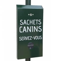 Distributeur de sachets propreté canine papier cartonné 100% biodégradables