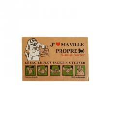 Kit de sac cartonné ramasse crottes