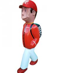 Personnage de signalisation routière en 3D - Léo et ses amis