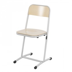Chaise scolaire appui sur table