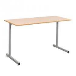 Table scolaire biplace 130x50 cm