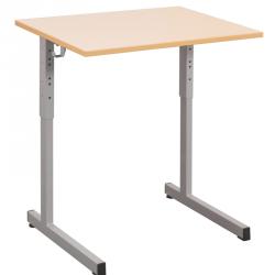 Table scolaire réglable en hauteur 70x50 cm